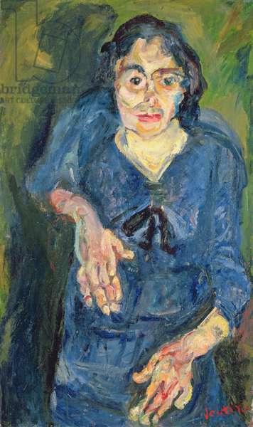 Portrait - Woman in Blue (oil on canvas)