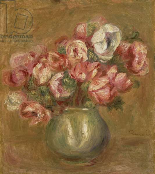 Flowers in a Green Vase, 1906 (oil on canvas)