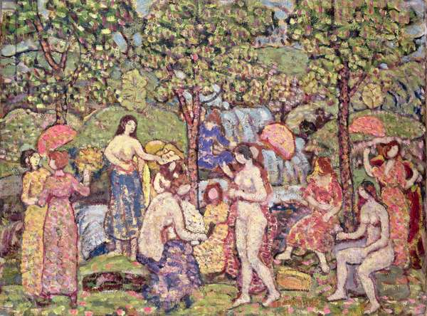 'Idyll', Nudes in a Landscape, 1913-15 (oil on canvas)