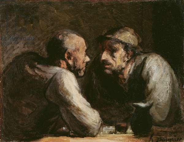 Les Deux Buveurs (oil on canvas)