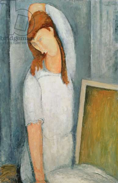 Portrait of Jeanne Hebuterne (1898-1920) with her Left Arm Behind her Head (oil on canvas)