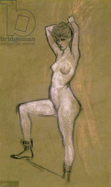 Nude (pastel on paper)