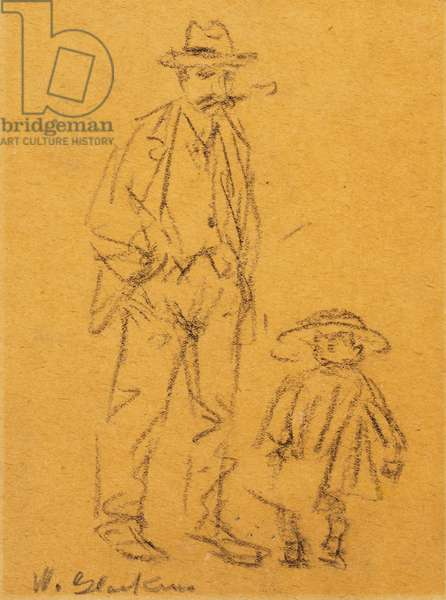 Man with Child (pencil on paper)