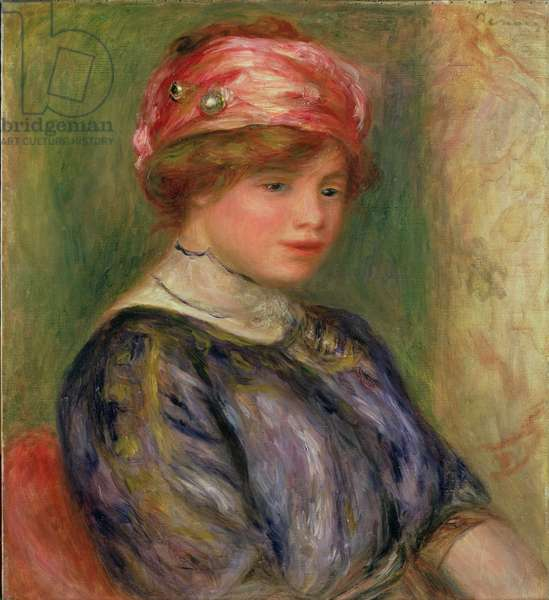 Girl with a Pink Hat, 1911 (oil on canvas)