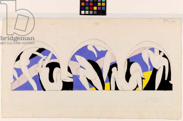 Study for the Dance Mural, 1931-32 (opaque w/c & graphite on wove paper)