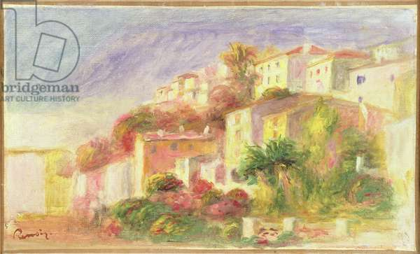 Garden of the Post Office at Cagnes, 1918 (oil on canvas)