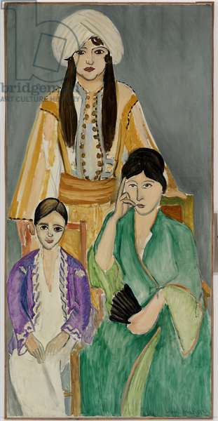 The Three Sisters with a Pink Marble Table, central panel from The Three Sisters Triptych, 1917 (oil on canvas) (see also 157062)