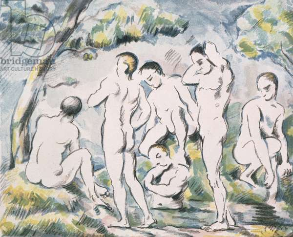 Bathers in a Landscape, 1898 (colour litho)