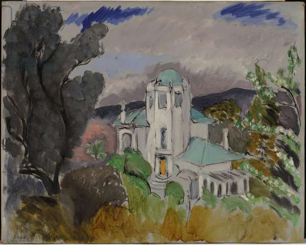 Blue Villa, Nice, 1917 (oil on panel)