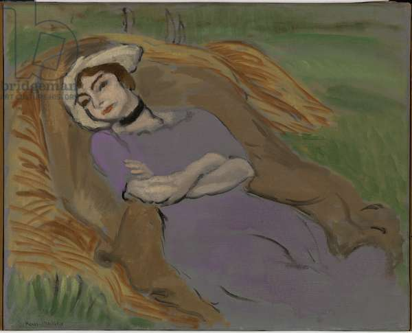 Reclining Figure in a Lavender Dress, 1919 (oil on canvas)