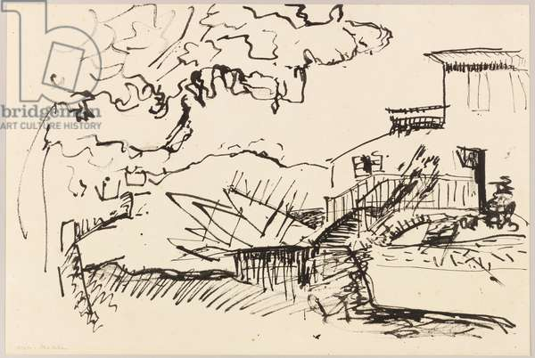 Landscape (Collioure), 1905 (ink pen on paper)