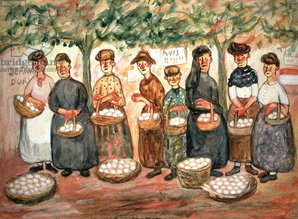 Women with Eggs, 1928 (w/c on paper)
