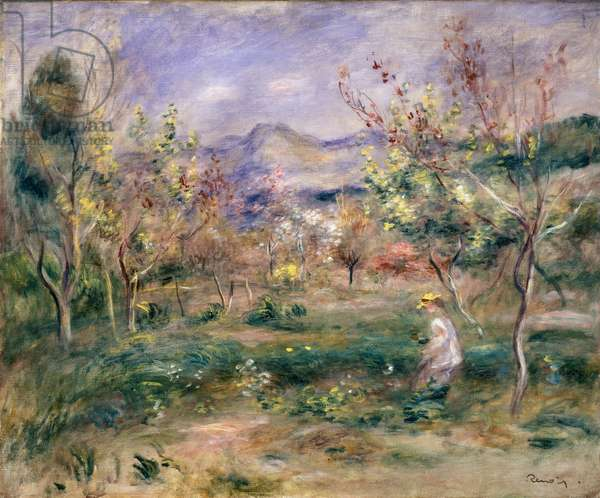 Orchard in Spring (oil on canvas)