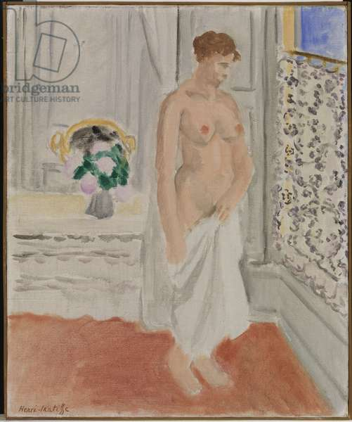 Standing Nude near Window, 1920 (oil on canvas)