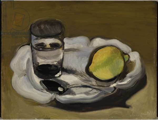 Still Life with Lemon, 1916 (oil on panel)