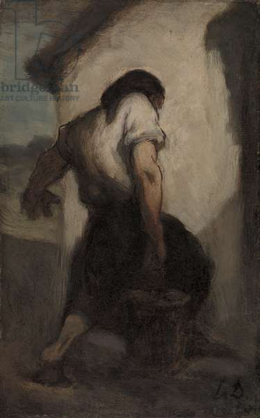 Water Carrier (oil on canvas)