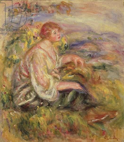 Woman on a Hillside, c.1916-18 (oil on canvas)