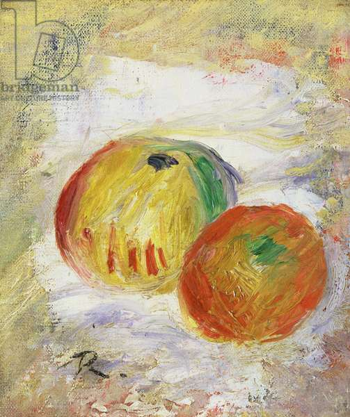 Two Apples, 1875 (oil on canvas)