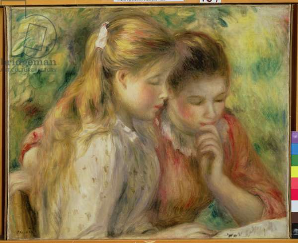 Two Girls Reading, c.1892 (oil on canvas)