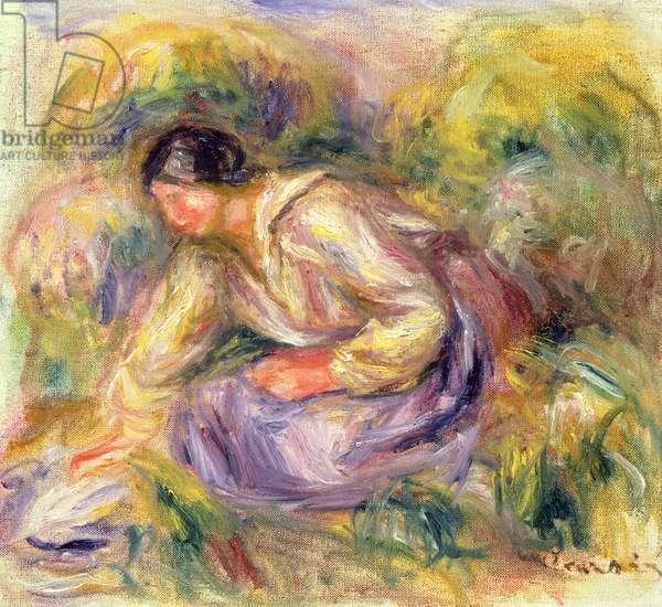 Washerwoman in Blue, 1917 (oil on canvas)