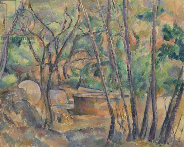 Millstone and Cistern Under Trees, 1892-94 (oil on canvas)