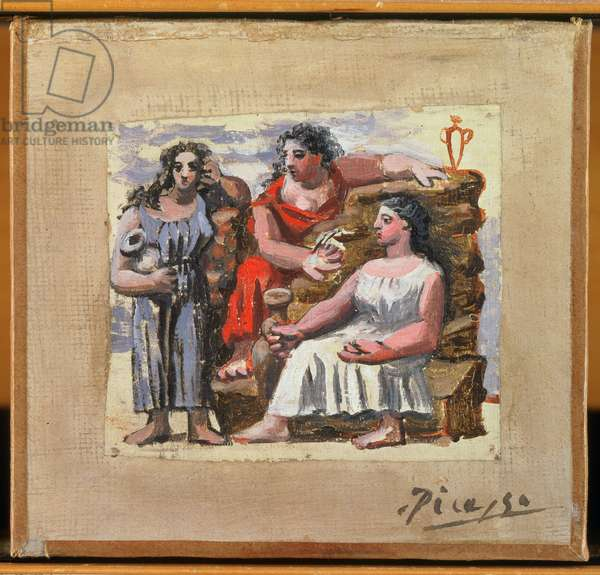 Three Figures (oil on canvas)