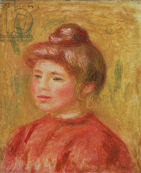 Bust of Woman in Red (Buste de femme en rouge) 1905–08 (oil on canvas)