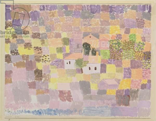 Sicilian Landscape, 1924 (no 236) (w/c on primed paper on cardboard)