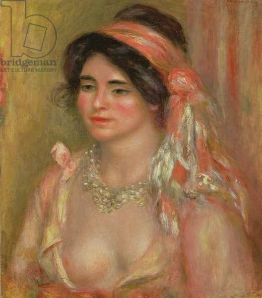 Gabrielle in Algerian Headdress, 1911 (oil on canvas)