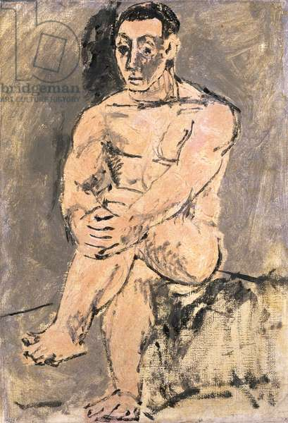Man Seated (oil on canvas)