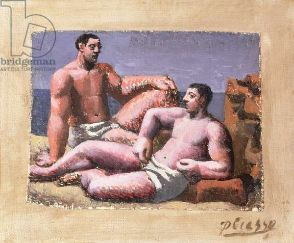Two Figures (oil on canvas)
