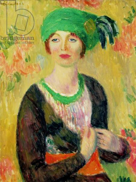 Girl with Green Turban (oil on canvas)