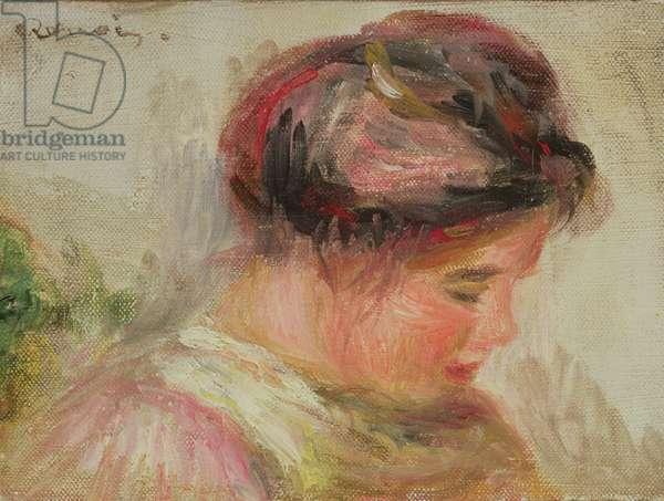 Head of Gabrielle (oil on canvas)