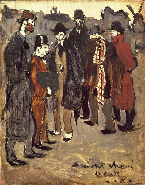 Group of Catalans in Monmartre, Pichot, Manach, Casagemas, Brossa, Picasso and Gener, 1900 (oil on canvas)