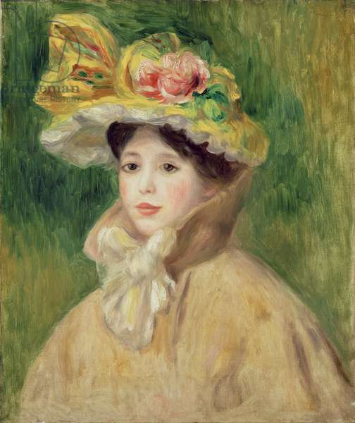 Girl with Yellow Cape, 1901 (oil on canvas)