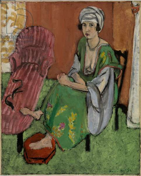 Green Dress, 1920 (oil on canvas)