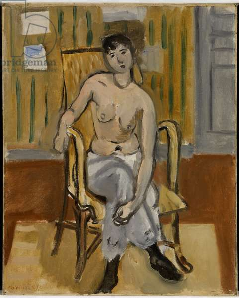 Seated Woman in Tan Roo, 1917 (oil on canvas)