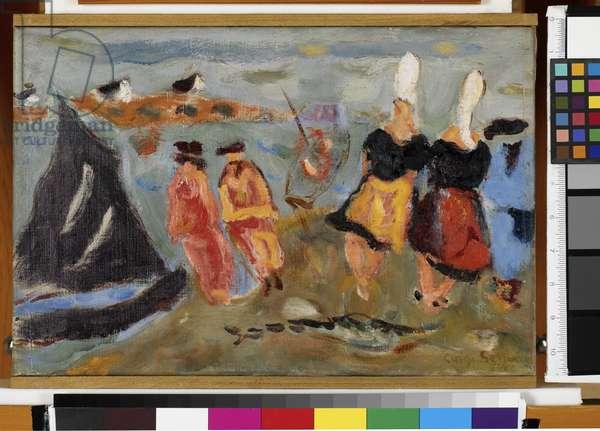 Port Manech (oil on canvas)