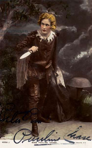 Peter Pan by JM Barrie with Pauline Chase in lead role, preparing to fight to Pirates
