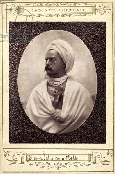 Tomaso Salvini - portrait as lead role in Shakespeare 's  play 'Othello' - Italian actor 1830-1915 - influenced by founder of method acting,  Konstantin Stanislavsky