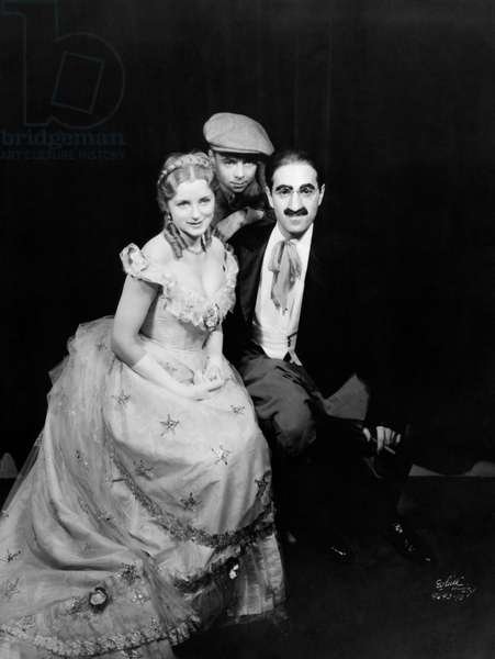 Evelyn Laye and Groucho Marx - portrait of the English theatre actress and of the American comedian