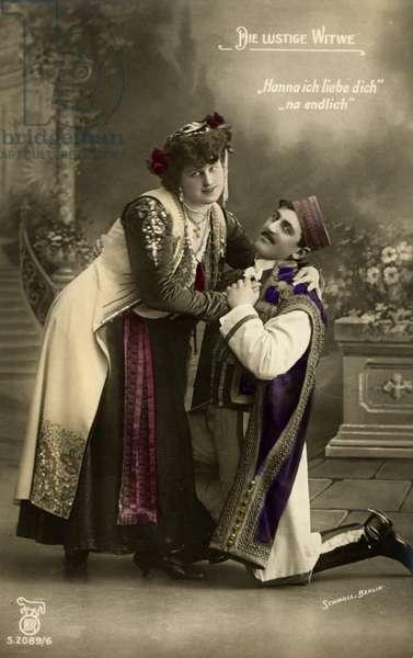 Franz Lehár's Merry Widow (Die Lustige Witwe) with Mirko Zeta as the Baron singing 'Hanna ich liebe dich'