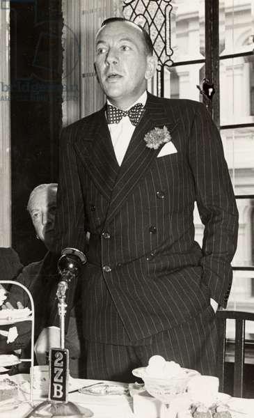COWARD, Noel - in Australia, November 1940 Photo by Irene Koppel British Composer, Playwright, Librettist, Actor, 1899-1973