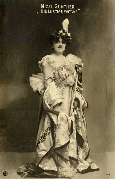 Franz Lehár's Merry Widow (Die Lustige Witwe) with Mizzi Gunther as the creator in 1905, Theater an der Wein, Vienna