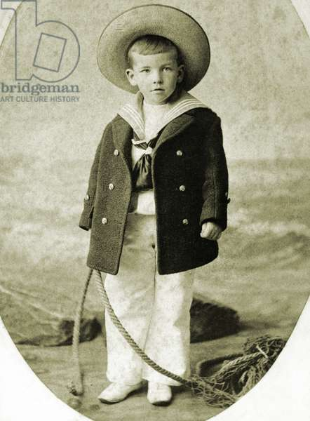 Noel Coward as a child- aged about 5 English playwright 1899-1973