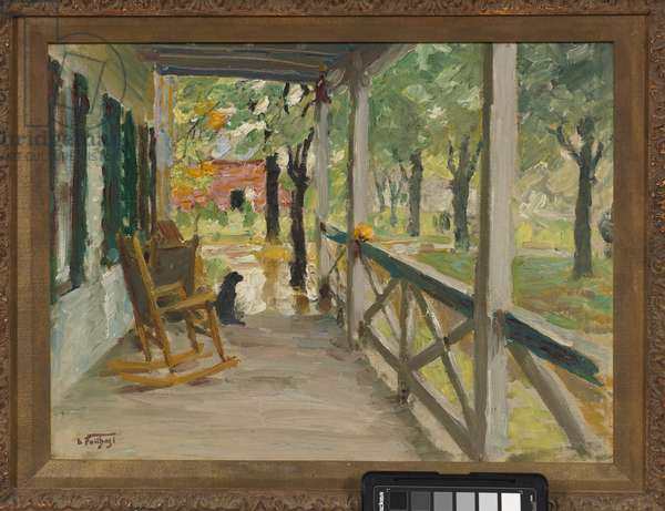 The Front Porch (oil on canvas board panel)