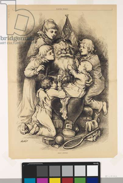 Merry Christmas, 1879 (wood engraving on paper)