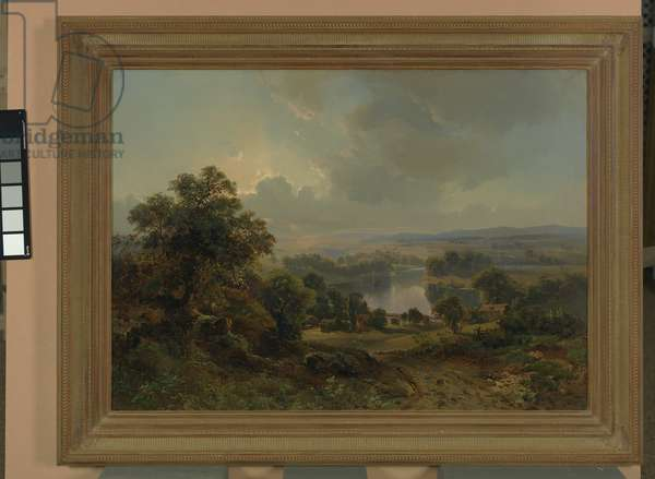 Scene in Chester Valley, 1856 (oil on canvas)