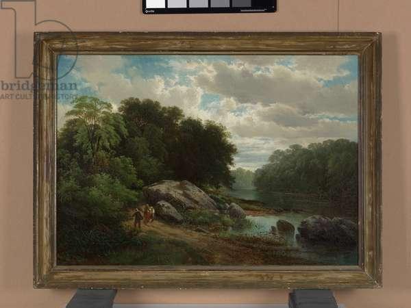 On the Brandywine, 1862 (oil on canvas)