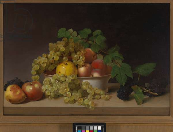 Still Life with Fruit on a Tabletop, c.1825 (oil on wood panel)